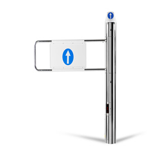 Supermarket Entrance security guide customers Automatic Electric Swing Gate manufacturer