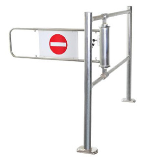 METRO Supermarket Checkout Access Control Gate With lock and reverse push function