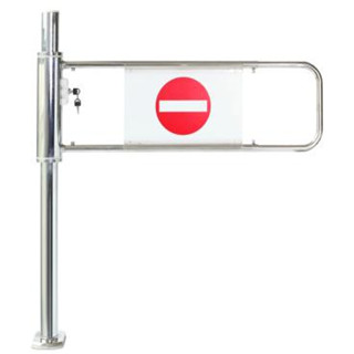 Supermarket Durable convenient  checkout channel Bi-Directional Security Swing Gate supplier