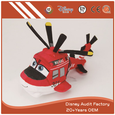 Plush Toy Plane Red Color Embroidery Pattern