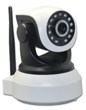 720P HD wireless IR-CUT PTZ infrared local recording ip camera with night vision