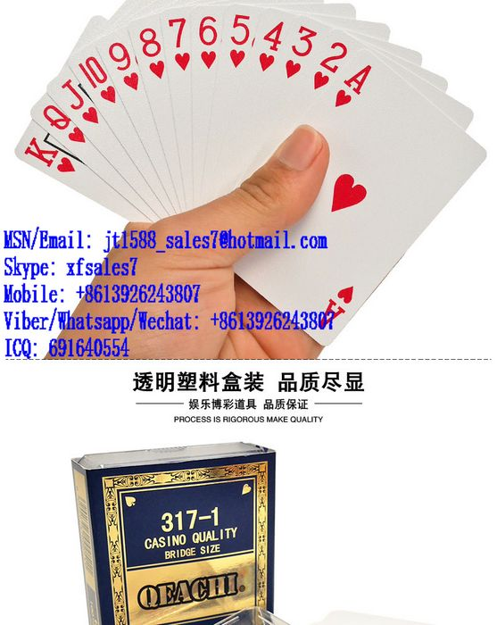 XF QEACHI Plastic Playing Cards With Invisible Ink Bar-Codes Markings For Poker Analyzer Scanner