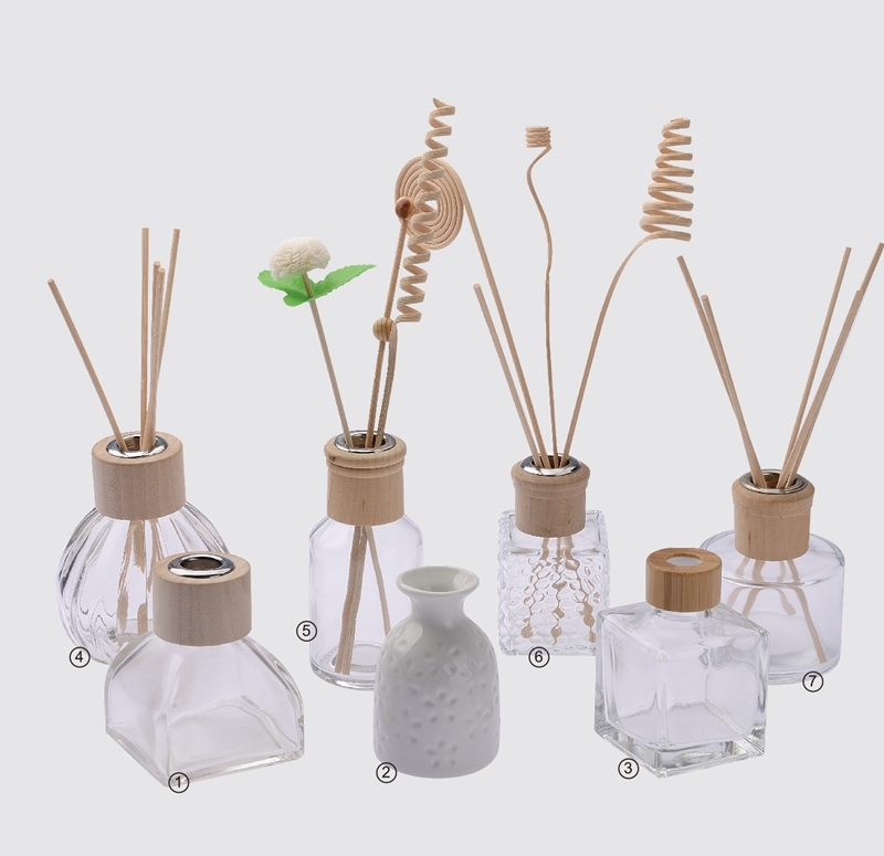 Empty glass bottles rattan diffuser bottles aromatherapy bottles 50ml-250ml