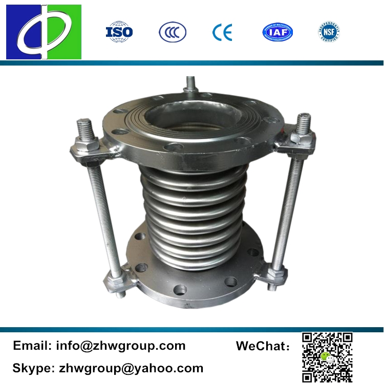High temperature industrial expansion bellows expansion joint at pump discharge