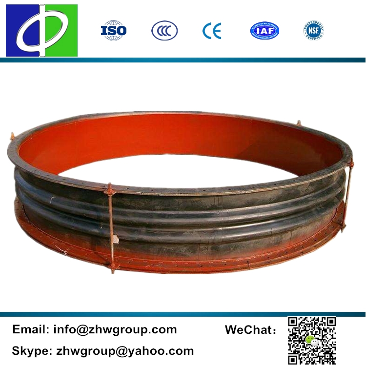 Expansion connector pipe fitting fabric rubber duct connector
