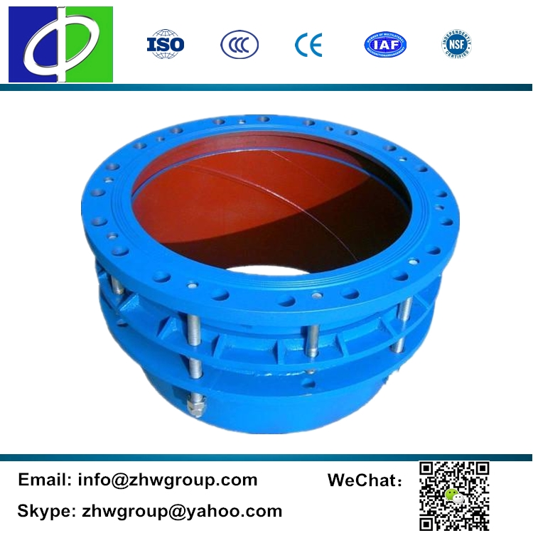 Limit type iron dismantling joint sliding expansion joint