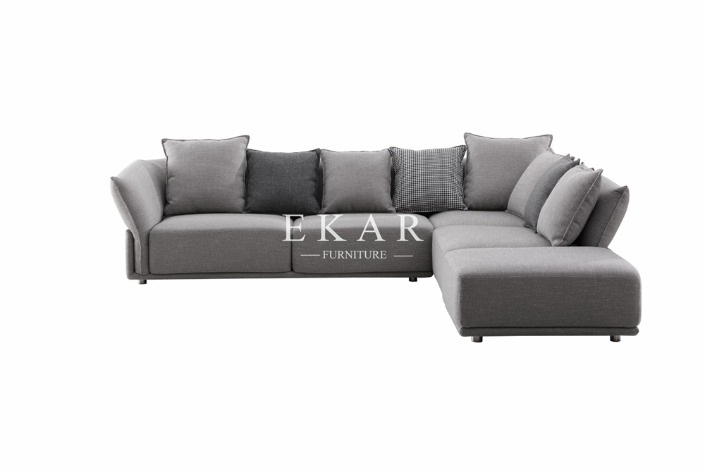 New House Furniture Sectional Cushion Fabric Living Room Sofa Set Designs