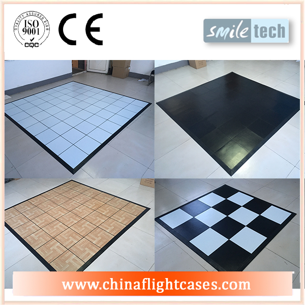 Portable PVC dance floor plastic floor tiles