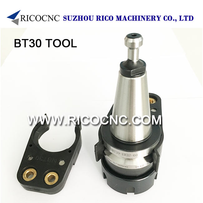 Black BT30 Tool Holder Clips for Wood CNC Router