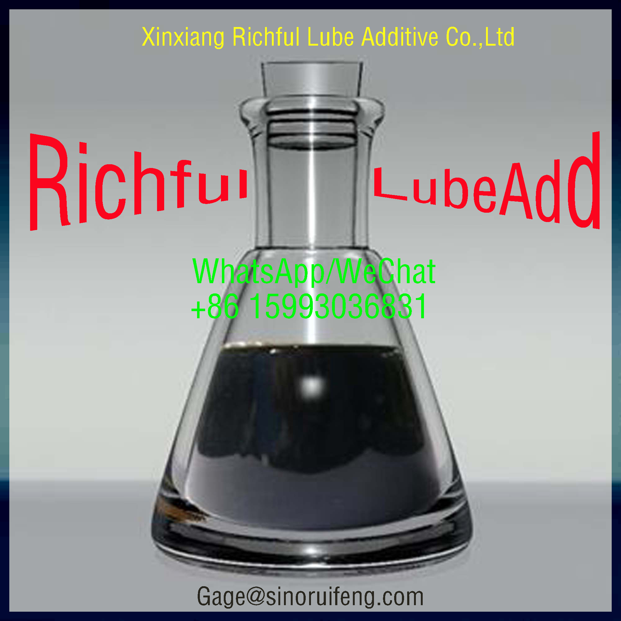 TBN400 Richful Lubricant Additives Detergent Calcium Sulfonate  RF1106D