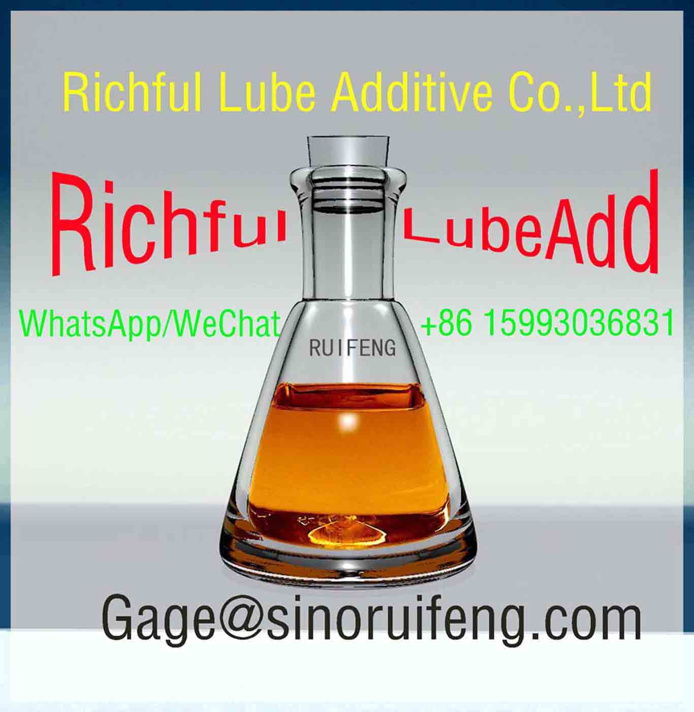 ZDDP Richful Lubricant Additives Antioxidant and Corrosion Inhibitor ZDDP Zinc Long-Chain Alkyl Dithiophosphate RF2206