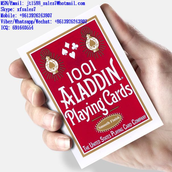 XF Aladdin Paper Poker Magic Cheat Playing Cards With Invisible Ink Markings For Poker Devices / Gambling Cheating Devices / Gambling Cheat Devices / Poker Cheat Card / Poker Cheating Tools / Wireless
