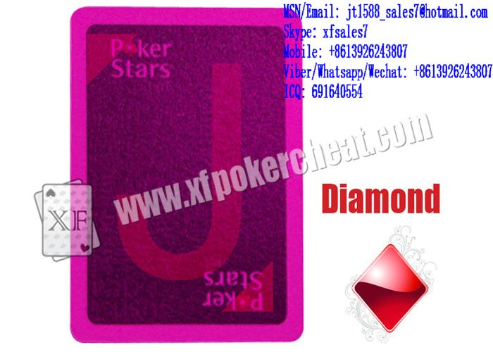 XF Gambling Cheating Plastic Pokerstars Invisible Ink Marked Playing Cards For Poker Analyzers