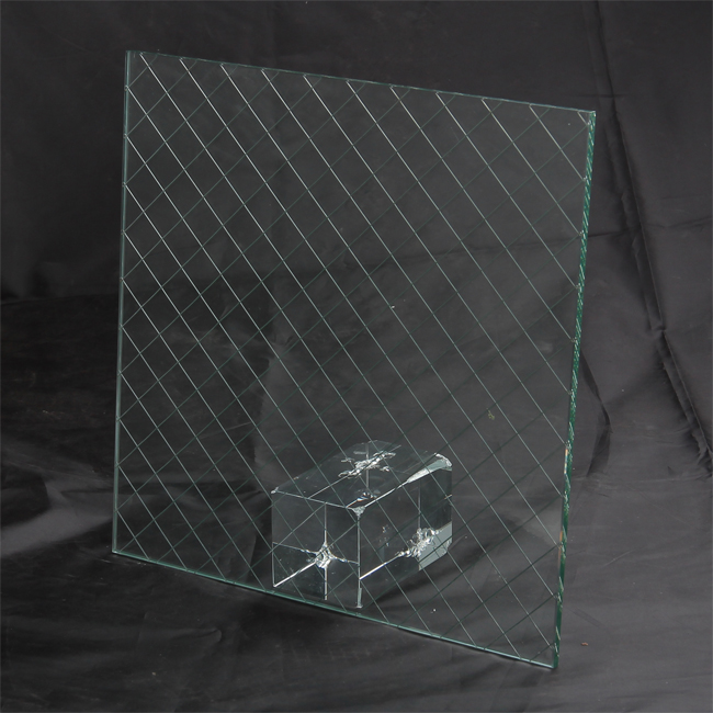 Wire glass for building