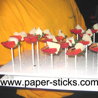 fruit paper stick