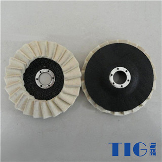 115mm 125mm Diameter Wool Polishing Wheel Wool Felt  flap disc manufacturer
