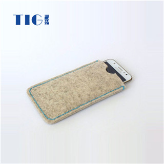 ECO-friendly 3mm thick felt handcrafted cell phone pouch felt case