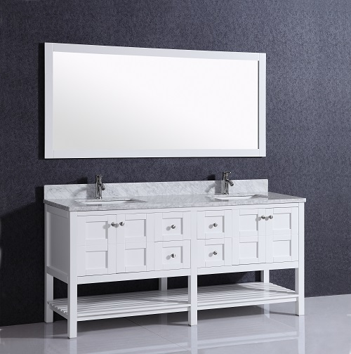 White high gloss liquidation bathroom vanity