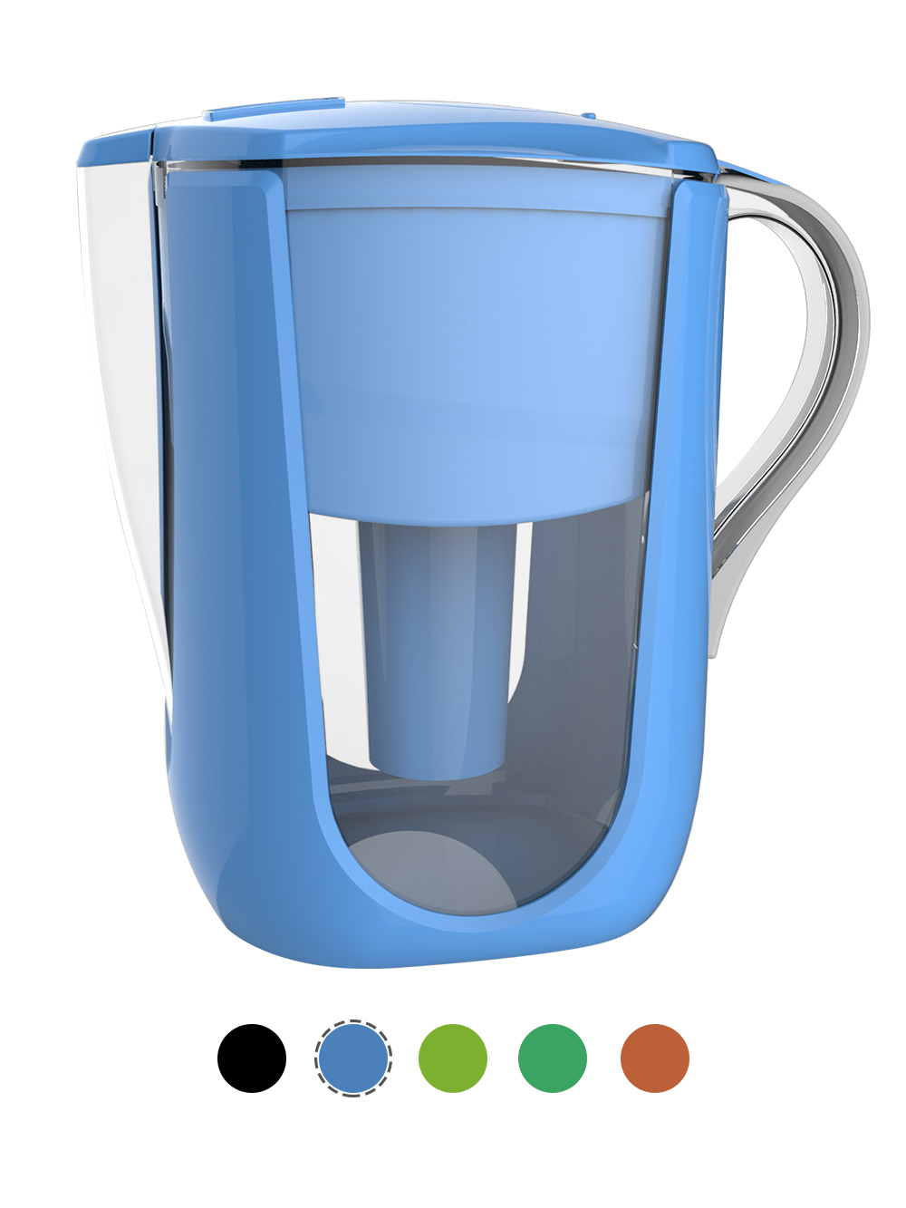 AOK 108A BLUE ALKALINE WATER PITCHER