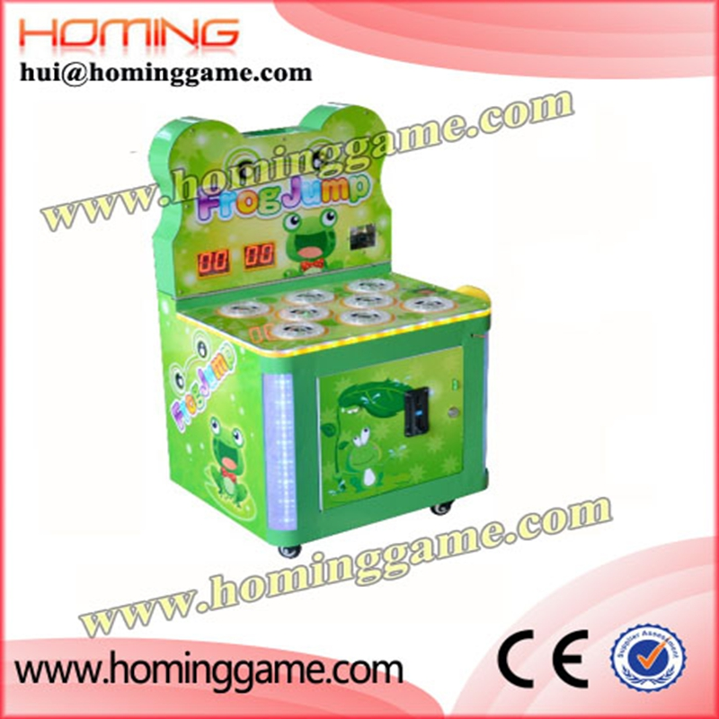 2018 newest more popular coin operated electronic game machine /crazy frog jump hit frog hammer kids game (hui@hominggame.com)