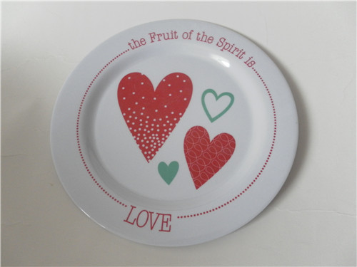 plastic melamine kids round flat plate and dishes