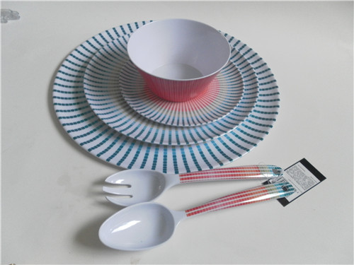 wholesale melamine tableware / melamine round plate/ bowl/spoon and fork