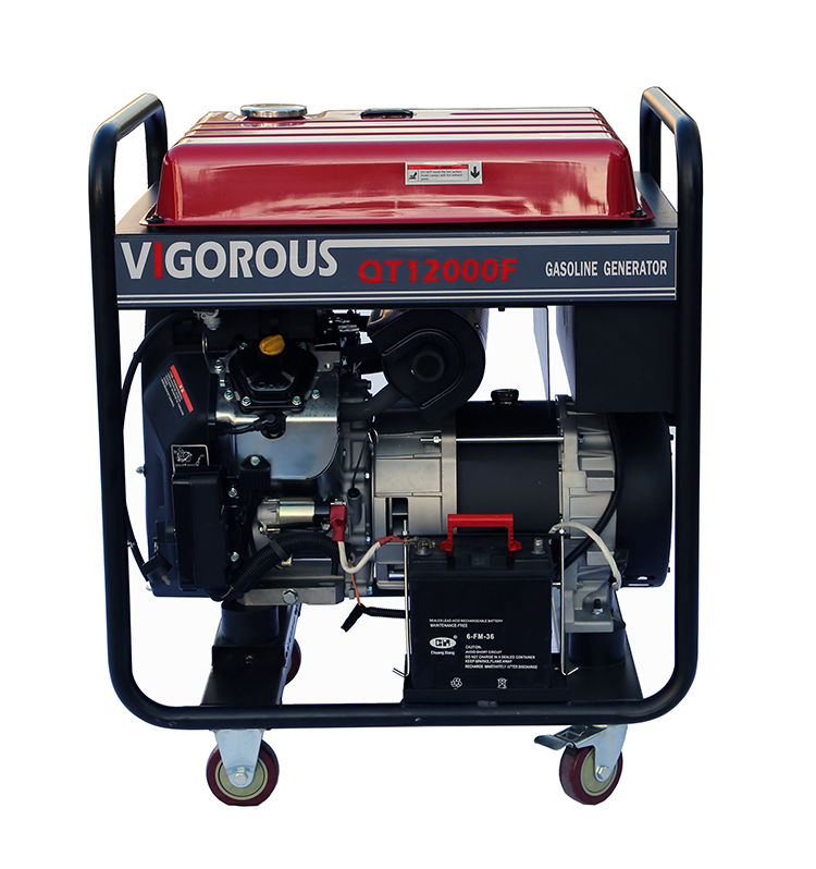 12KW Home Use Easy to Start Gasoline Generator with Wheels