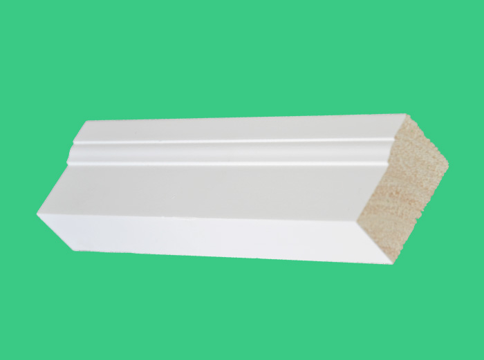 high performance W356 solid painting&white radiata pine primed Brick wooden moulding