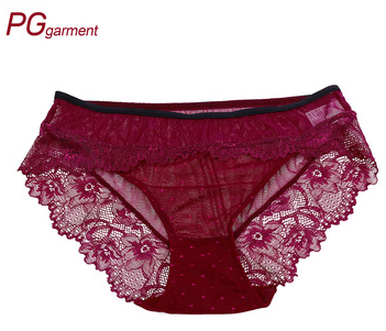 Sexy lace panty women panties sexy lace and mesh transparent ladies underwear panties mature women underwear