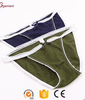 Hot Cute Japanese Style Stripe String Panties Cotton Underwear for Girls