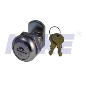 Zinc Alloy Cam Lock with Dust Shutter, Shiny Chrome