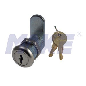 Wafer Key Cam Lock, Zinc Alloy, Shiny Chrome
