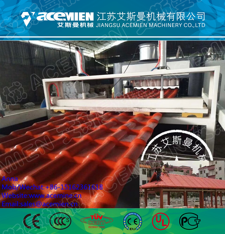 PVC+PMMA Corrosion-resistant Glazed Roof Tile Making Machine/Roof Sheets Extrusion Line
