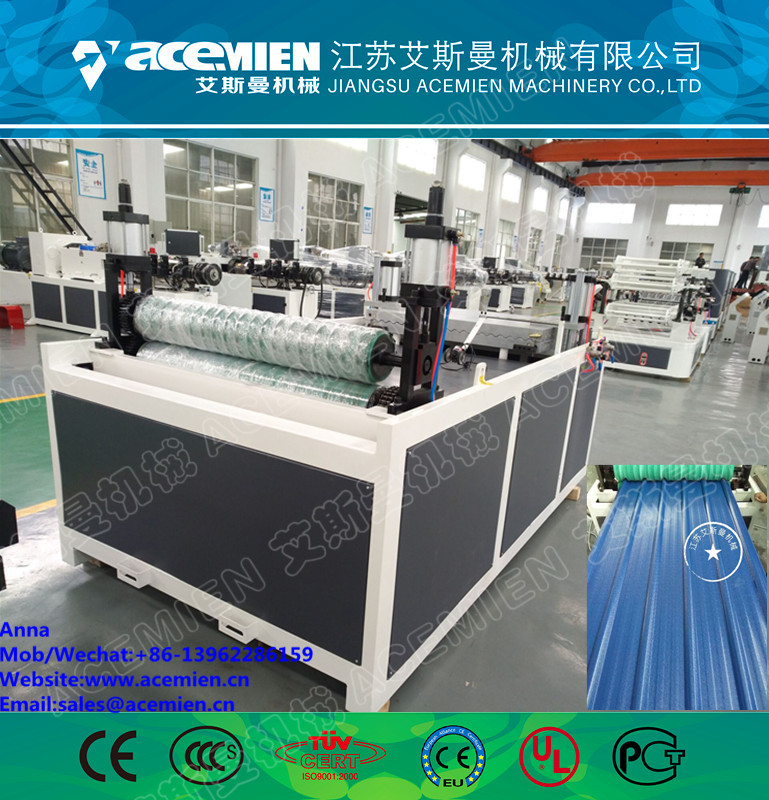 Double Layer Roll Forming Machine rollformers PVC Roofing Corrugated tile Wall Panel tile making machine