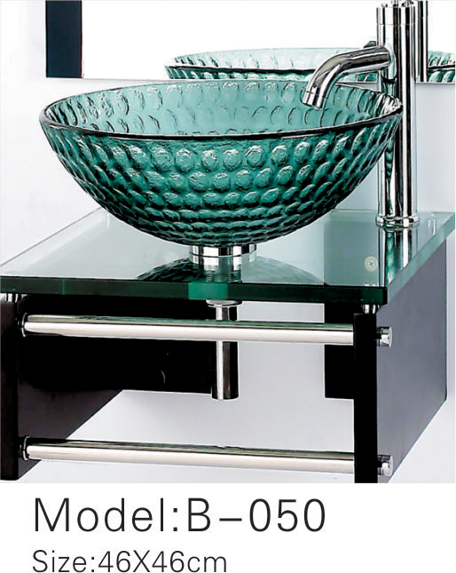 glass wash basin price B050