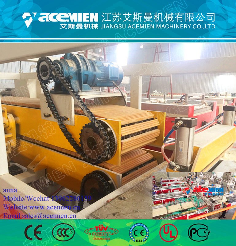 PVC WPC wall panel extrusion line/twin-screw extruder