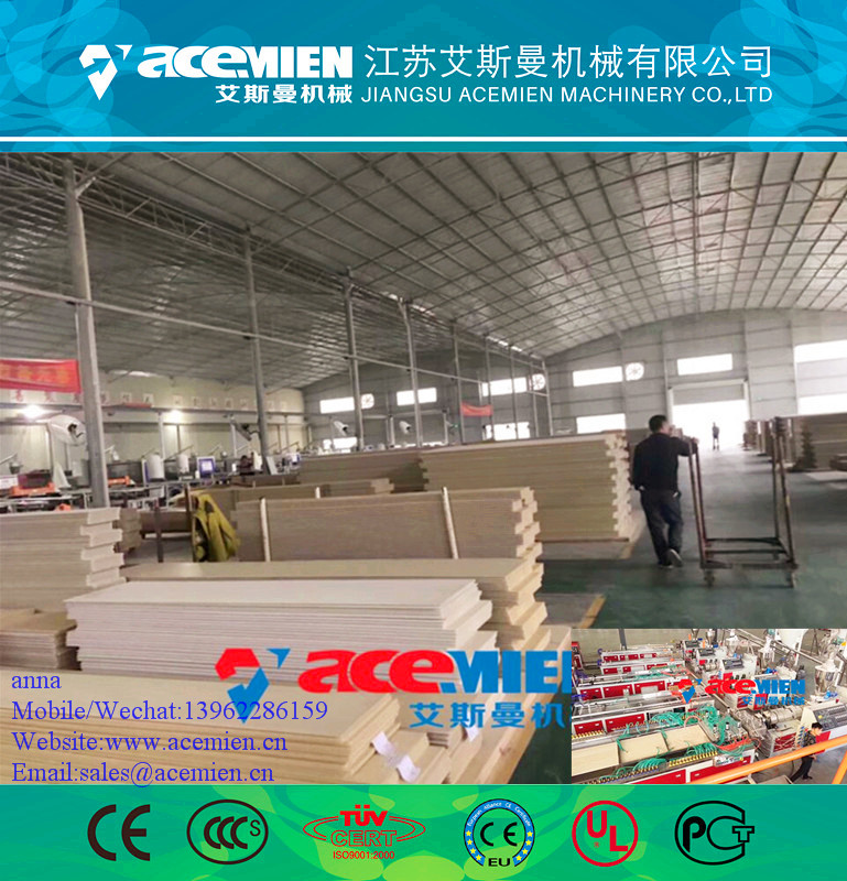 Plastic PVC door board/wall panel extrusion production line