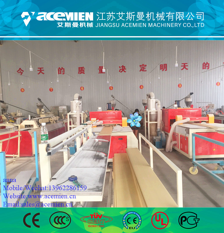 PVC/WPC plastic laminated/hot stamping panel/board extrusion line