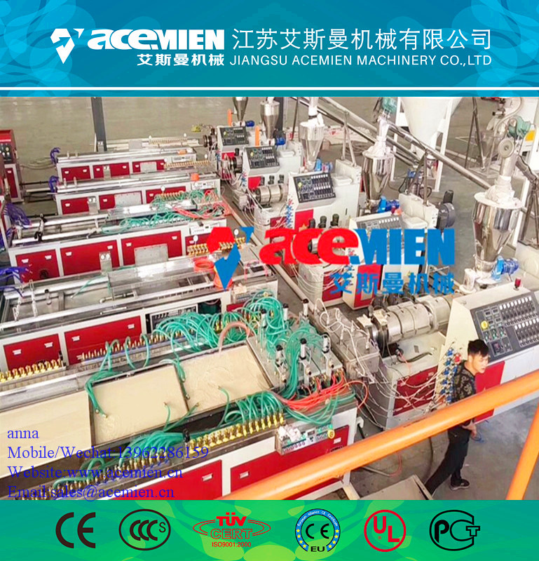 PVC/WPC plastic decoration/electrical profile extruder production line