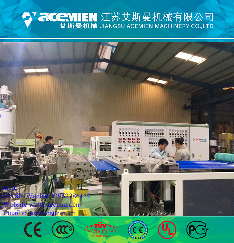 Glazed Tile Making Machine Line/Extrusion Line For PVC Plastic Roof Tile