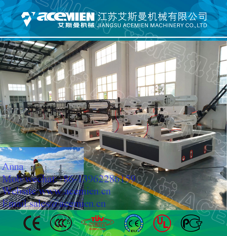 PVC+ASA & PMMA Plastic Colorful Roof Tile Extrusion Machine