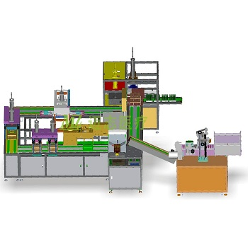 Automatic assembly machine for blood collection tube production line machine