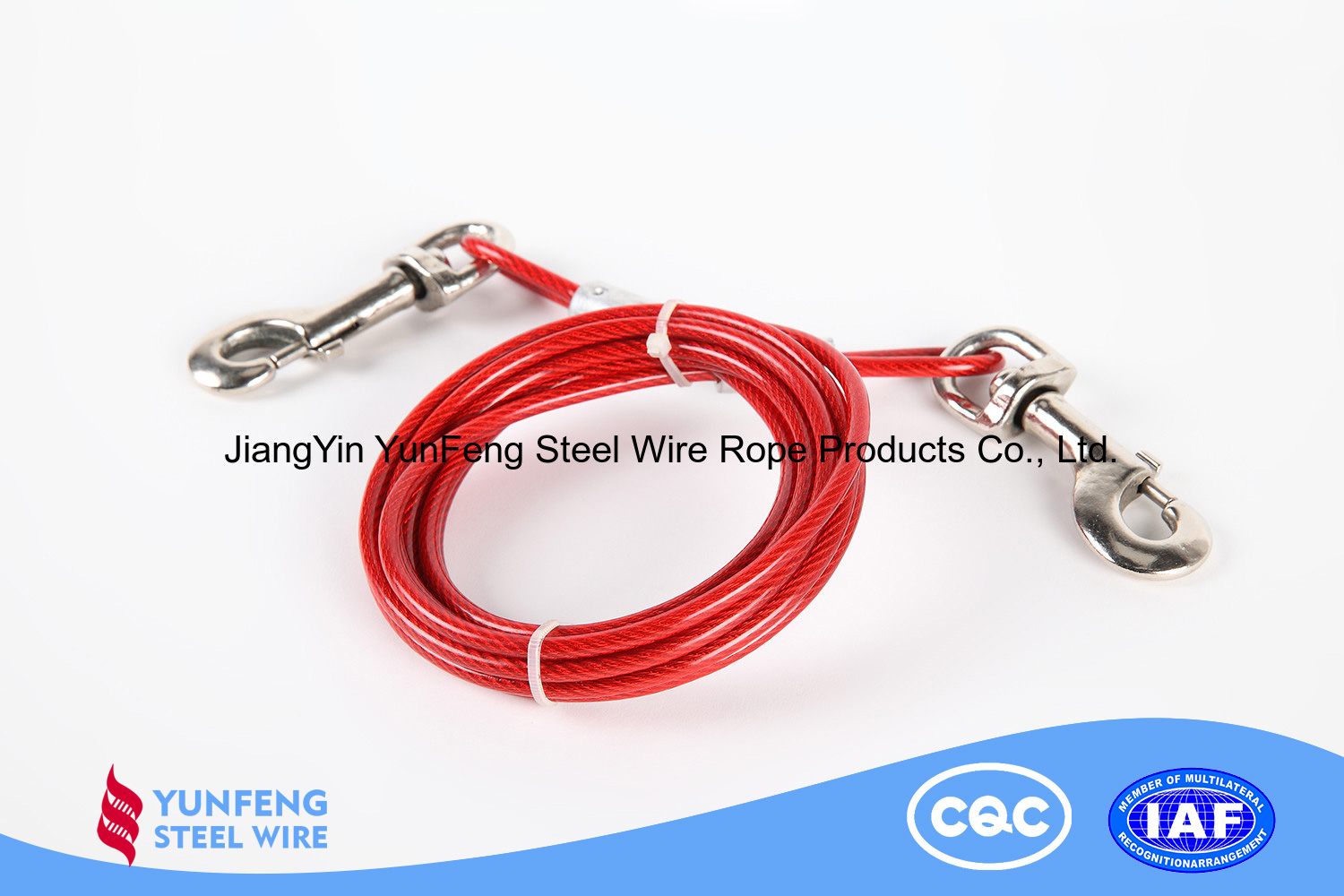 Electro Galvanized Coated with PU High Carbon Steel Wire Rope for Aviation