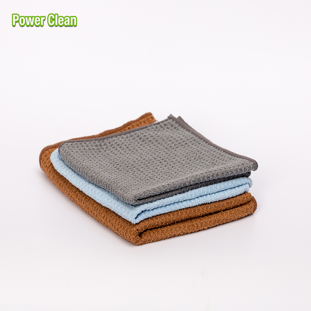 Car Care Lint-Free Cheap Custmo Microfiber Waffle Cleaning Cloth