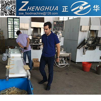China Popular Small Automatic Snack Food Wafer Stick Egg Roll Making Machine