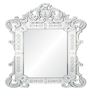 Etched classic devorative wall mirror for livingroom/bathroom/dining room