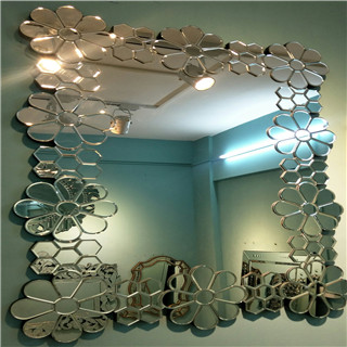 Blazing flower devorative wall mirror for livingroom/bathroom/dining room