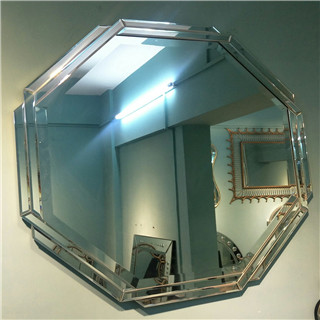 Modern octagon devorative wall mirror for livingroom/bathroom/dining room