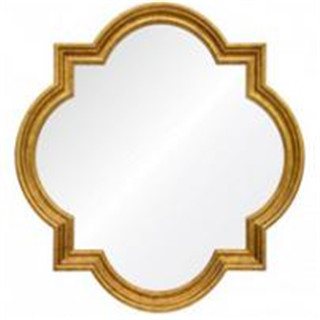 Totem devorative wall mirror with gold leafing for livingroom/bathroom/dining room