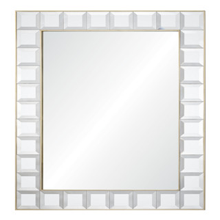 Square ice devorative wall mirror with silver leafing for livingroom/bathroom/dining room